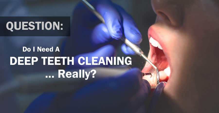 Patient Getting a Teeth Cleaning